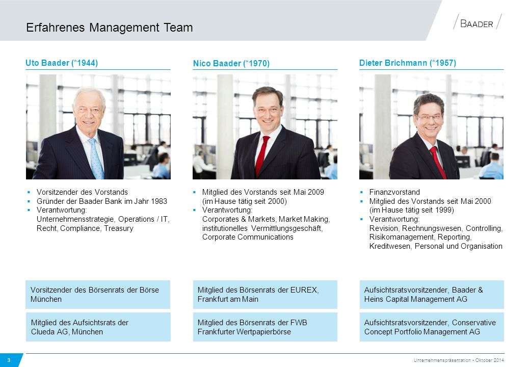 Erfahrenes Management Team