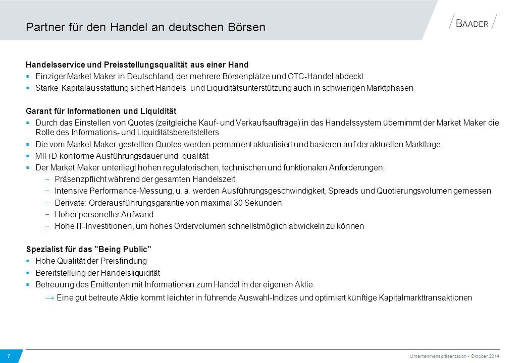 Partner für den Handel an deutschen Börsen