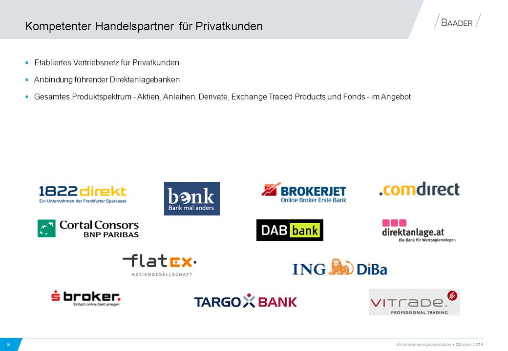 Kompetenter Handelspartner für Privatkunden