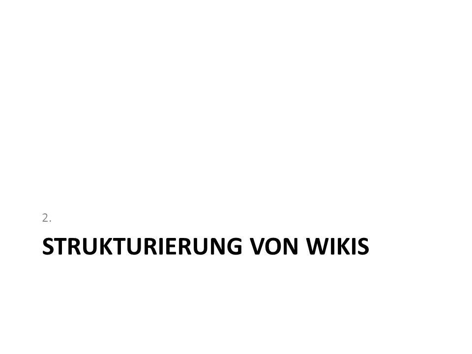 Strukturierung von Wikis