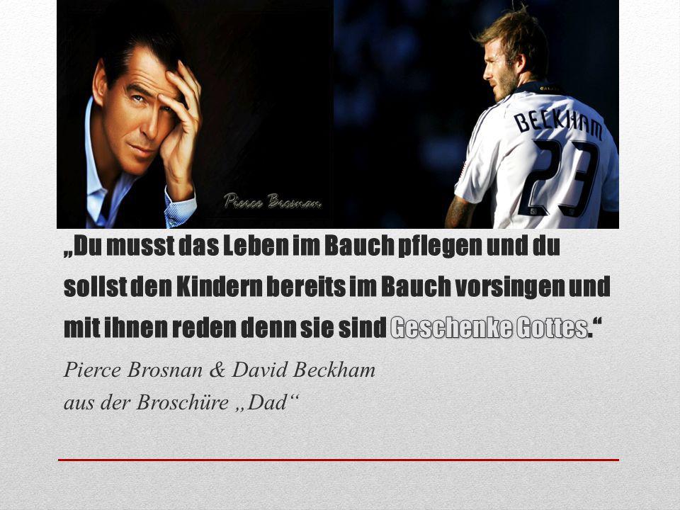 """Pierce Brosnan & David Beckham aus der Broschüre """"Dad"""