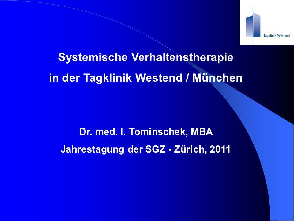 Systemische Verhaltenstherapie in der Tagklinik Westend / München
