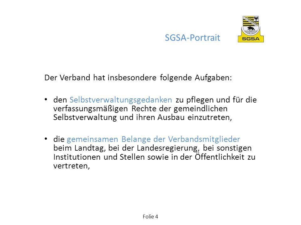 SGSA-Portrait Der Verband hat insbesondere folgende Aufgaben: