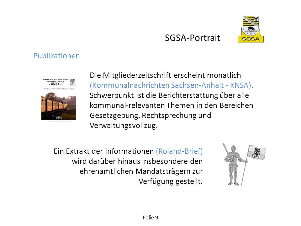SGSA-Portrait Publikationen