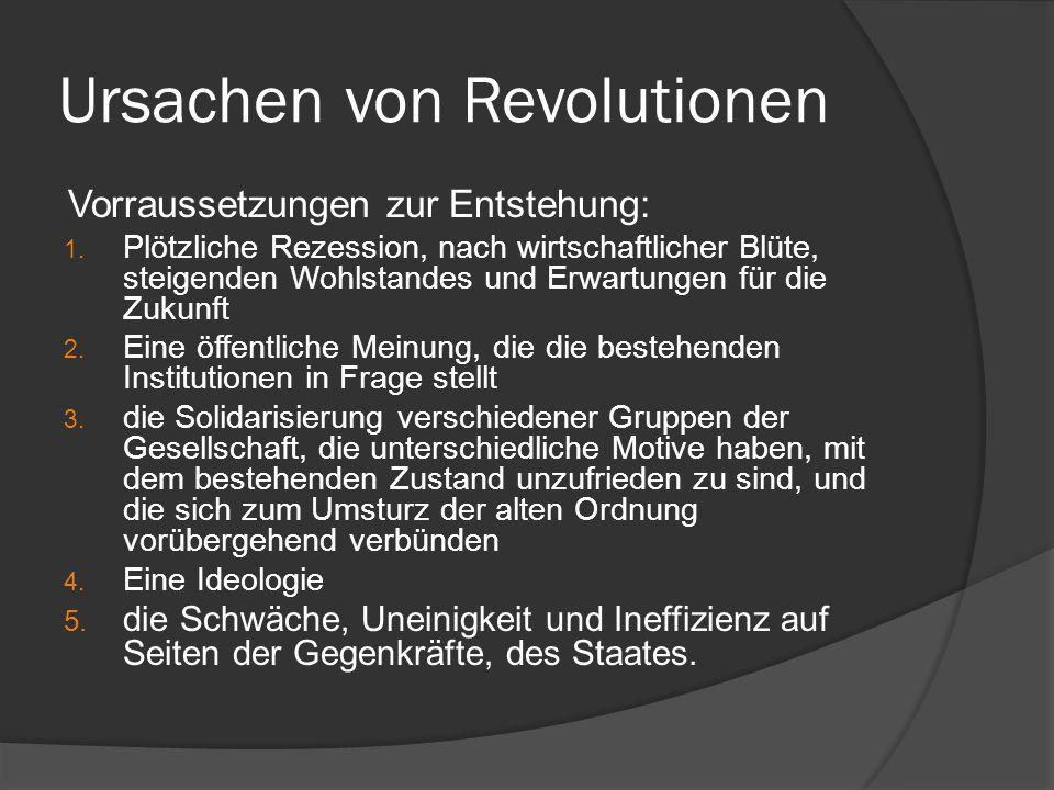 Ursachen von Revolutionen