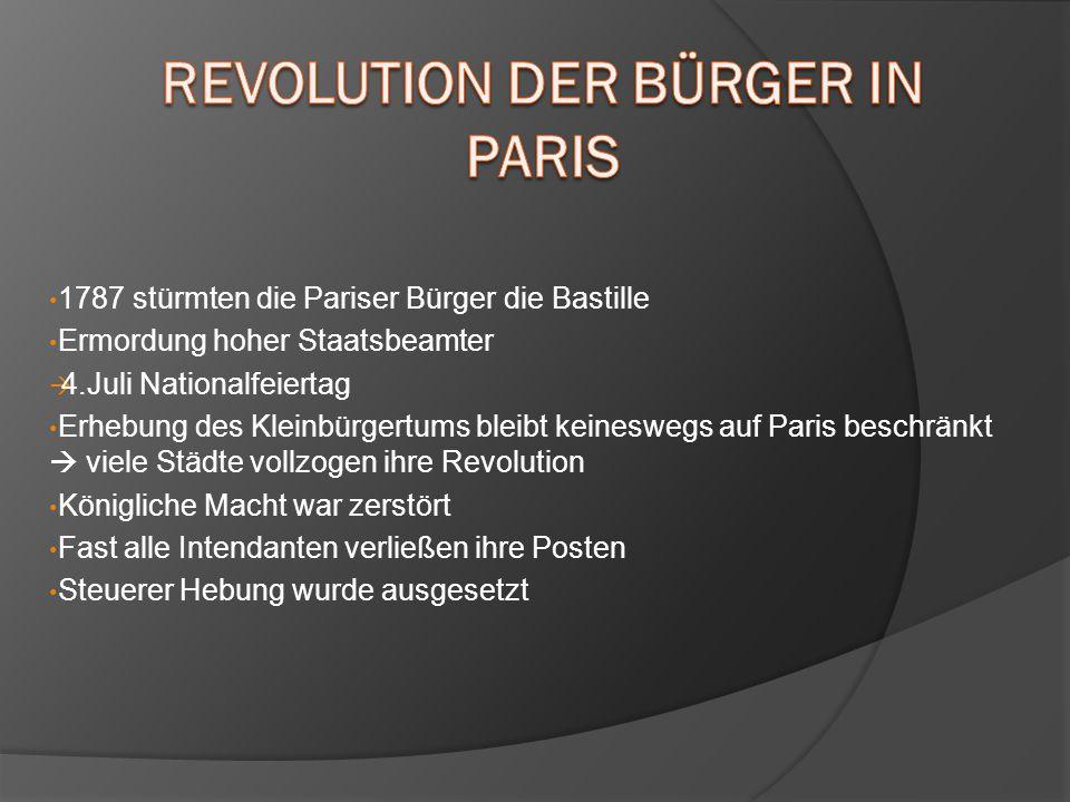 Revolution der Bürger in Paris