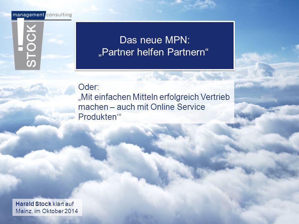 """Das neue MPN: """"Partner helfen Partnern"""