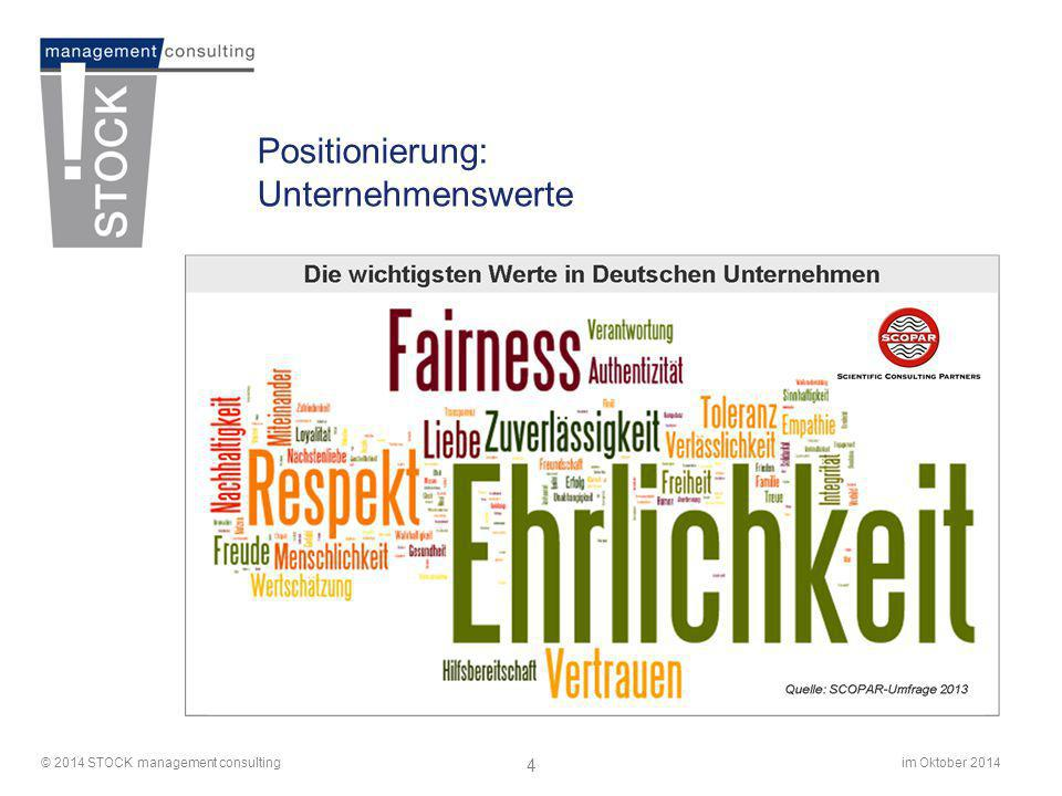 Positionierung: Unternehmenswerte