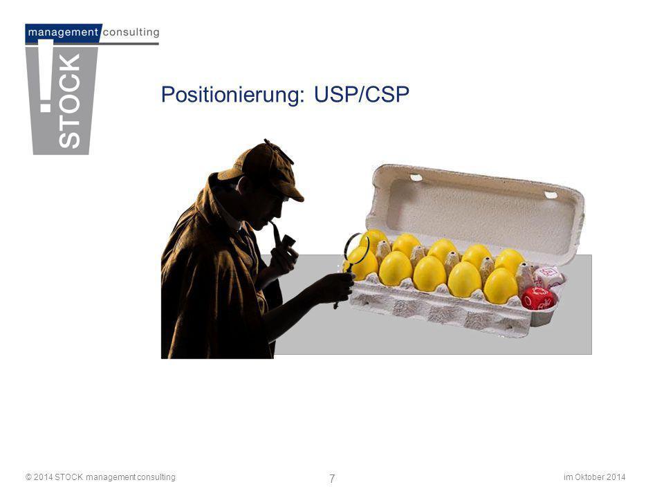 Positionierung: USP/CSP