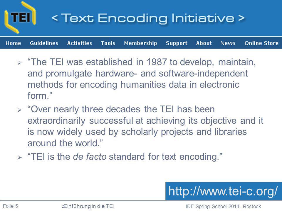 TEI http://www.tei-c.org/