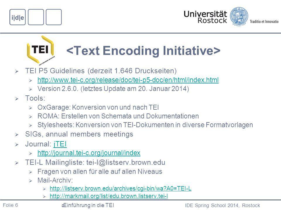 <Text Encoding Initiative>