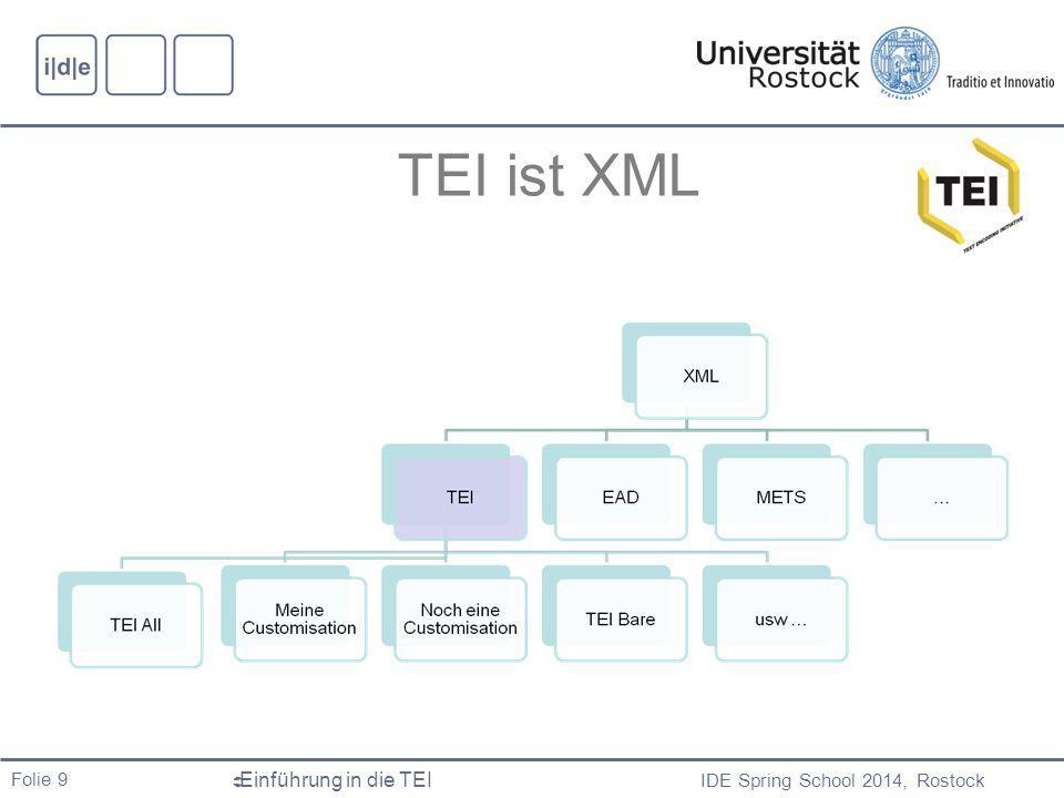 TEI ist XML