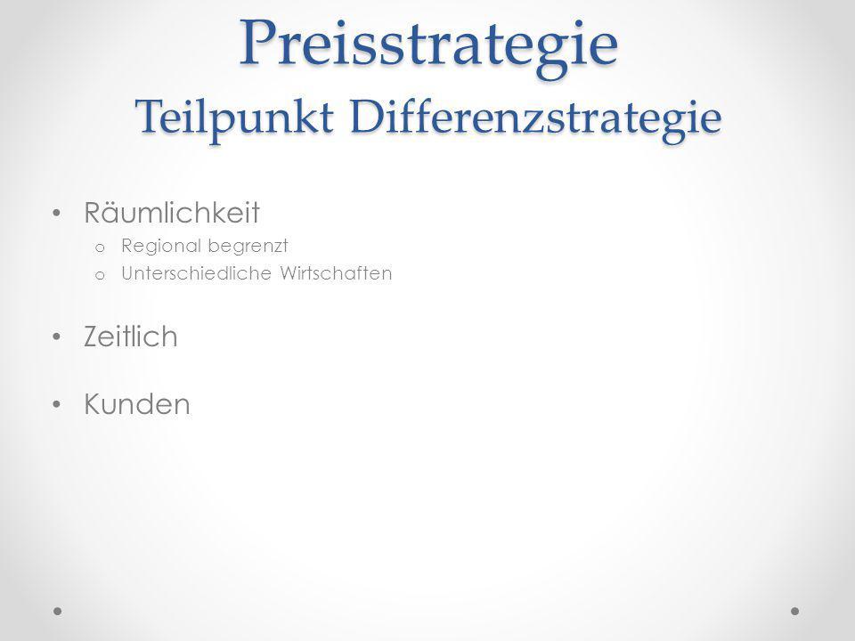 Preisstrategie Teilpunkt Differenzstrategie