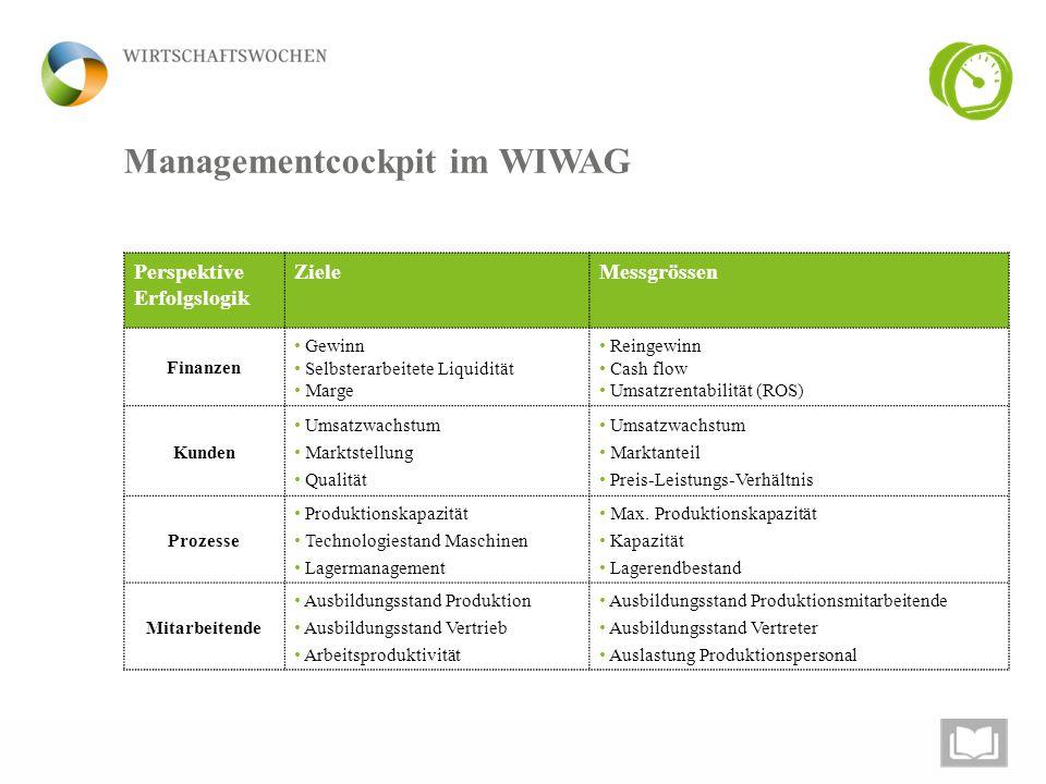 Managementcockpit im WIWAG