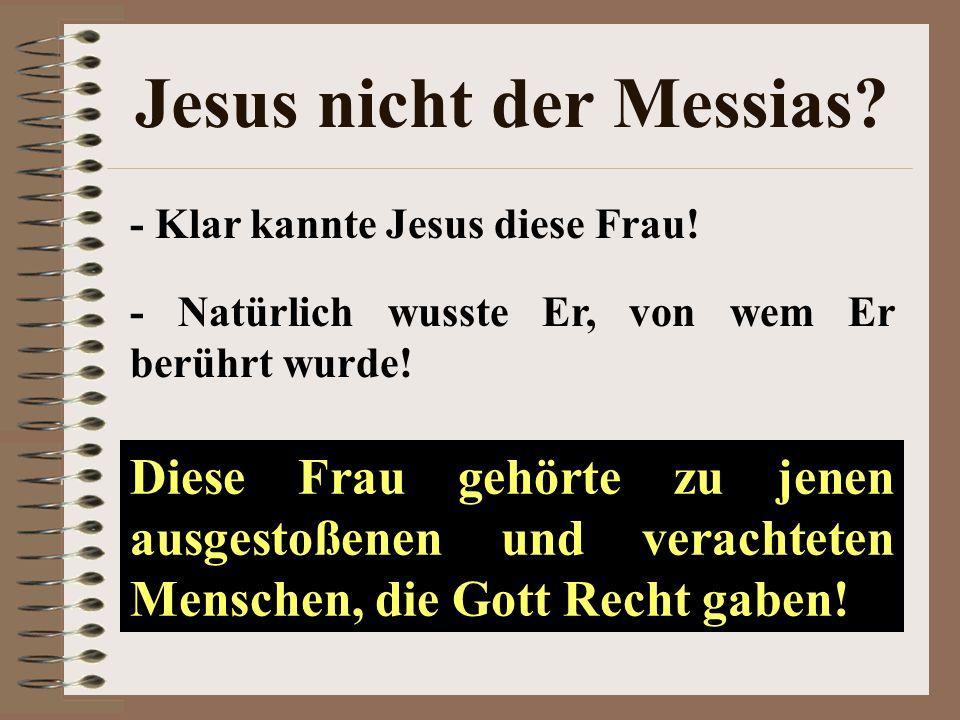 Jesus nicht der Messias