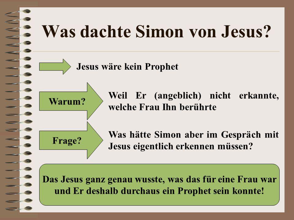 Was dachte Simon von Jesus