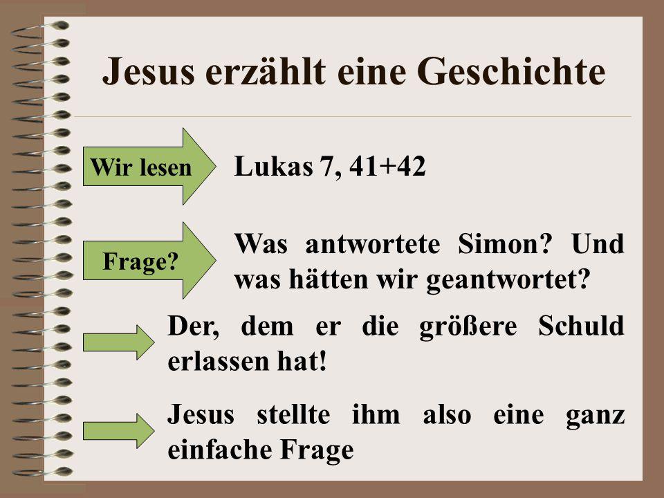 Jesus erzählt eine Geschichte