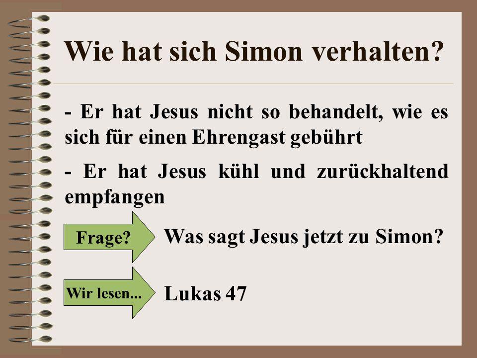 Wie hat sich Simon verhalten