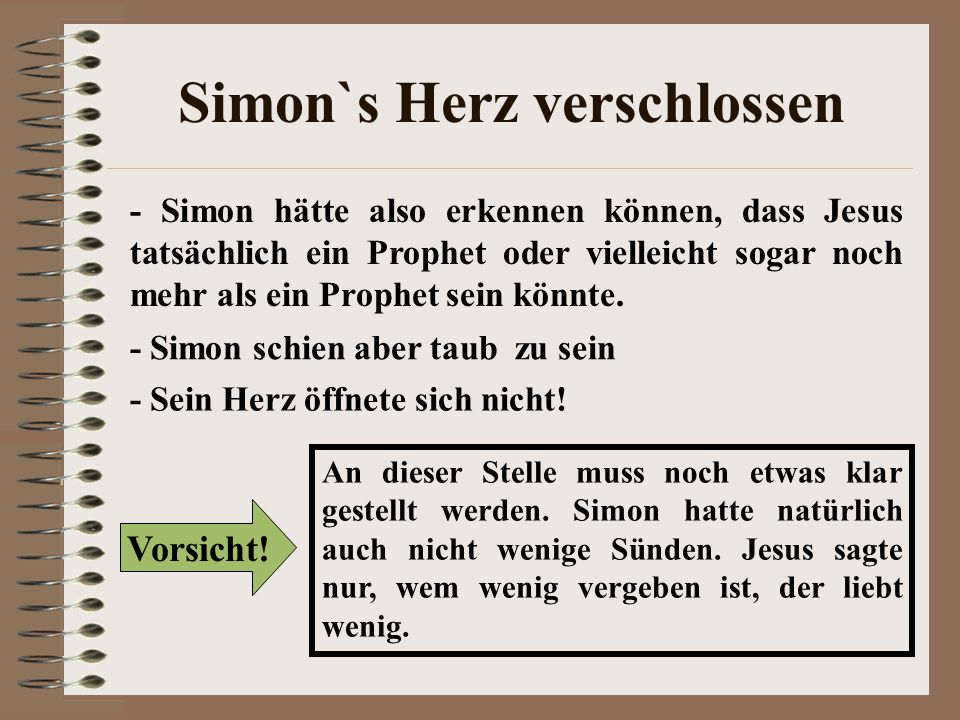 Simon`s Herz verschlossen