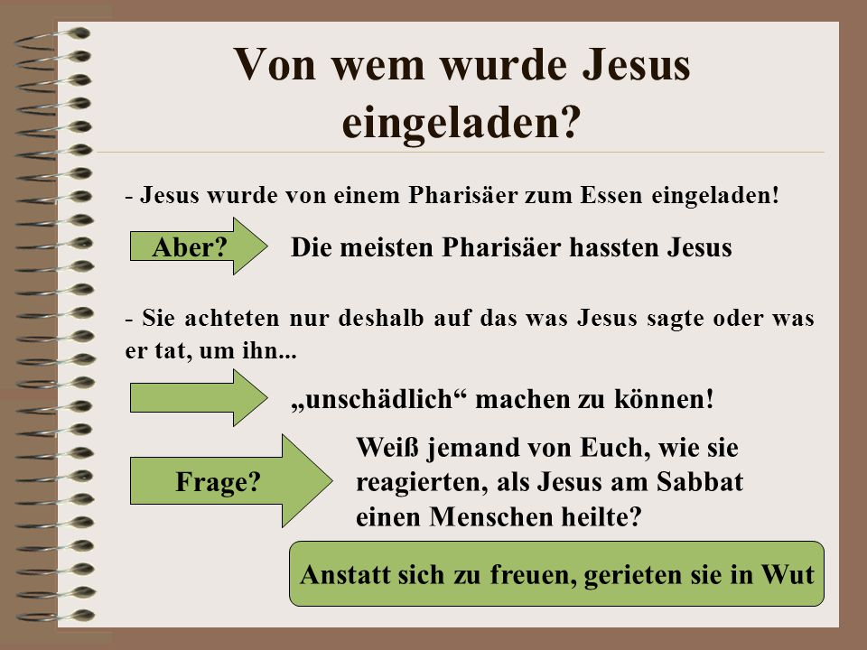 Von wem wurde Jesus eingeladen