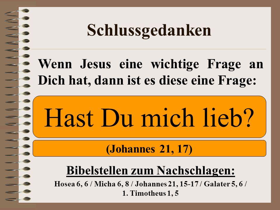 Bibelstellen zum Nachschlagen: