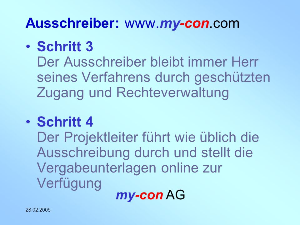 Ausschreiber: www.my-con.com