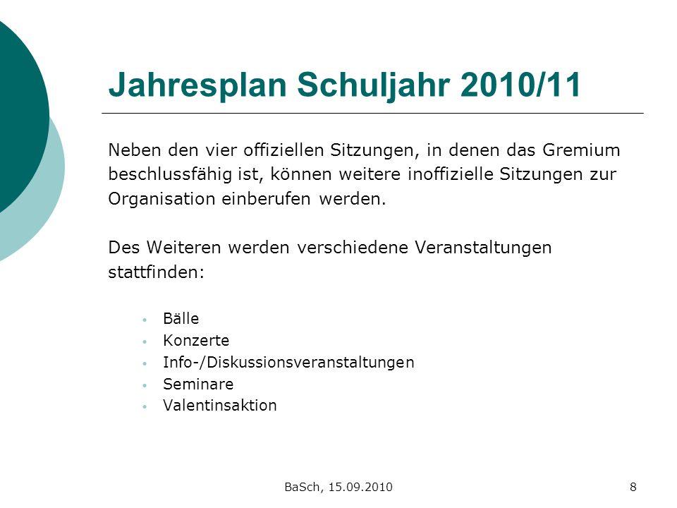 Jahresplan Schuljahr 2010/11