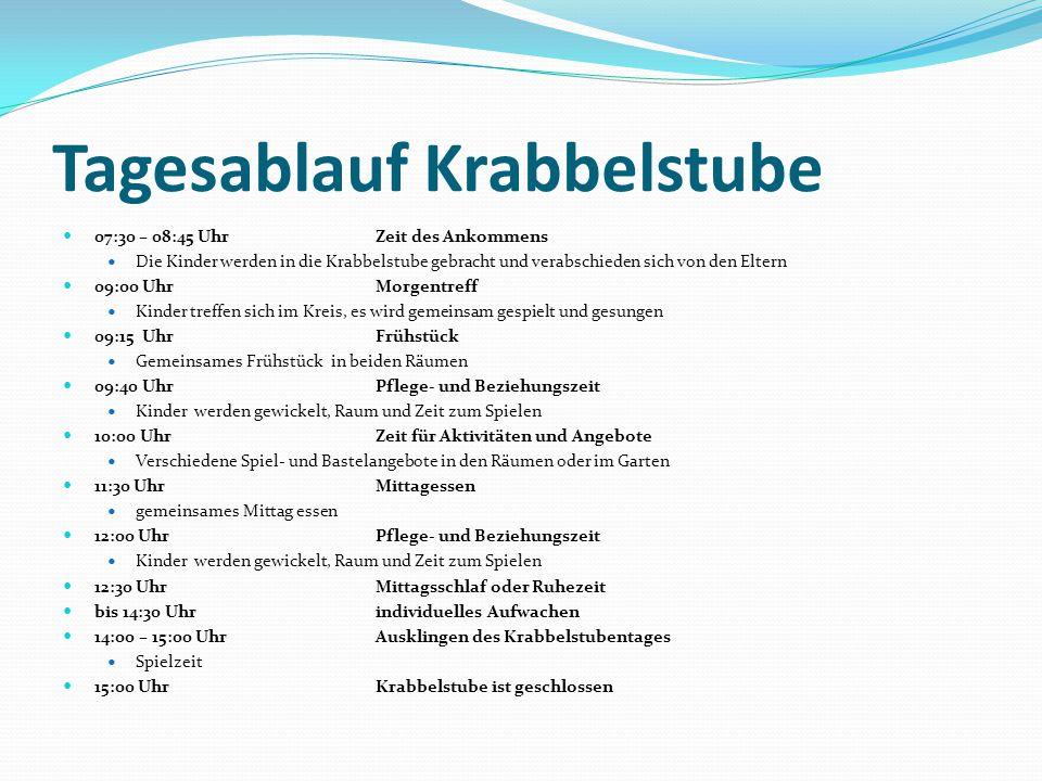 Tagesablauf Krabbelstube