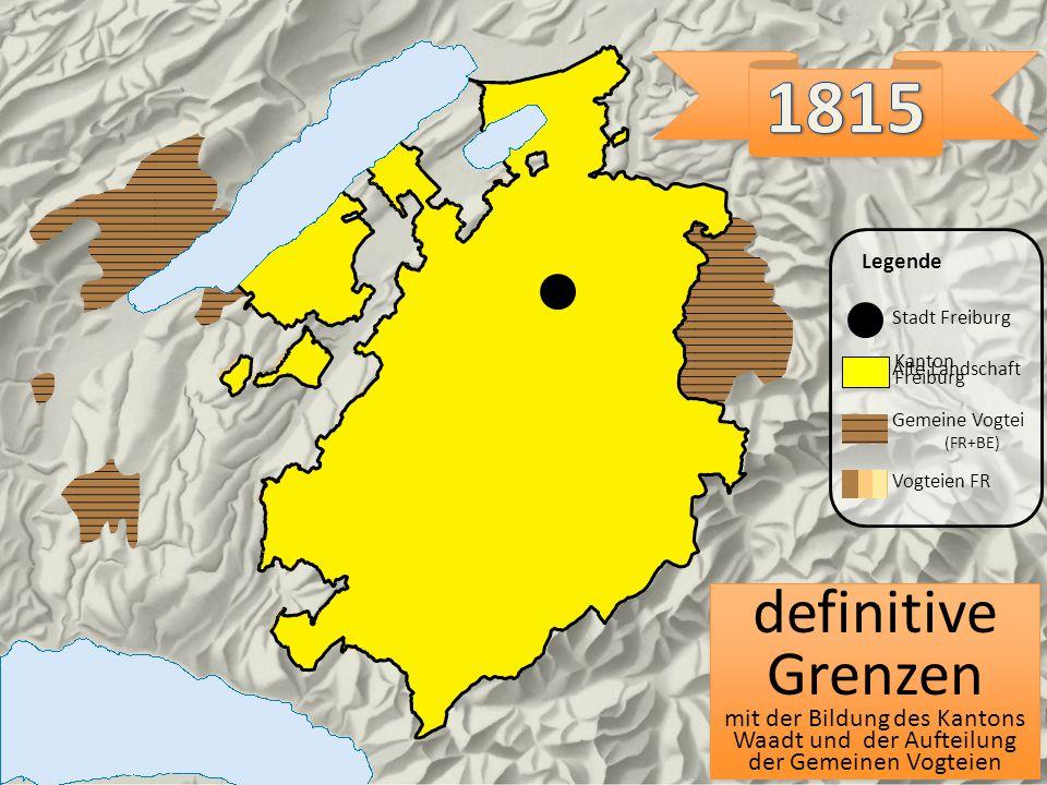 1815 1157. 12. Legende. Stadt Freiburg. Kanton Freiburg. Alte Landschaft. Gemeine Vogtei. (FR+BE)