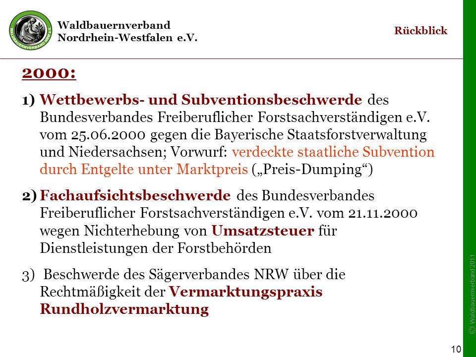 """Rückblick 2001-2003: Eröffnung eines Kartellrechtsverfahrens des Bundeskartellamtes: """"Verfahren Rundholzvermarktung"""