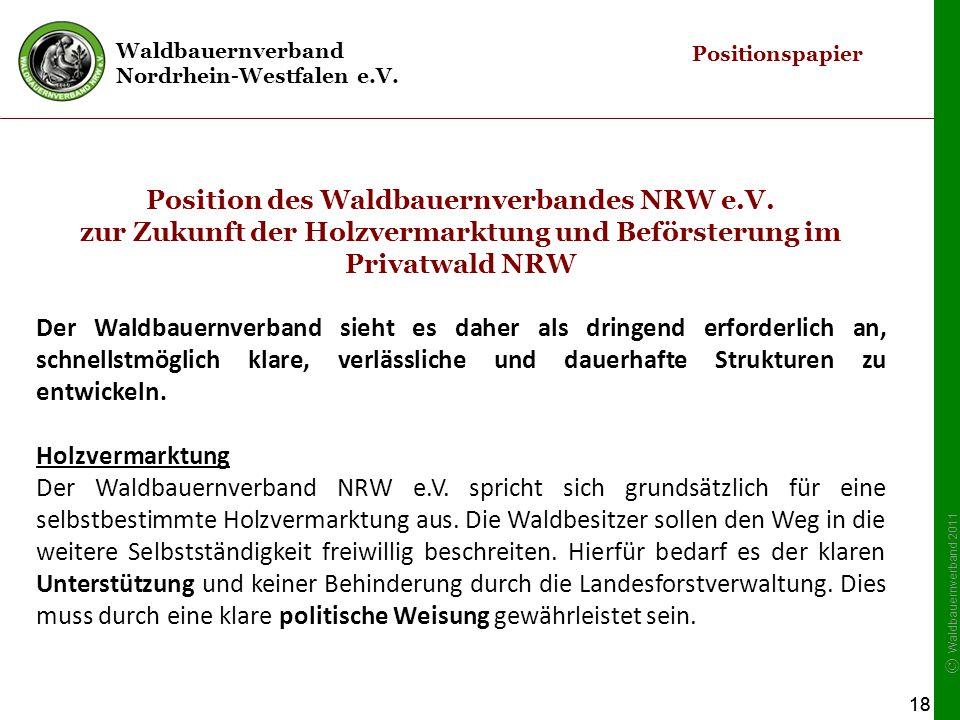 Position des Waldbauernverbandes NRW e.V.