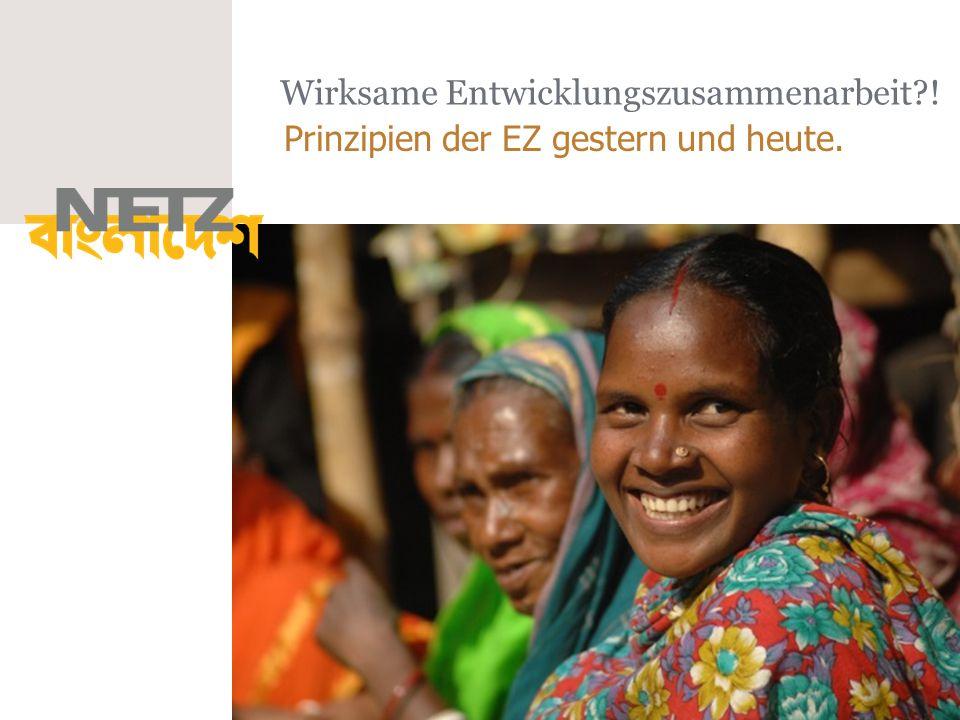 Wirksame Entwicklungszusammenarbeit !