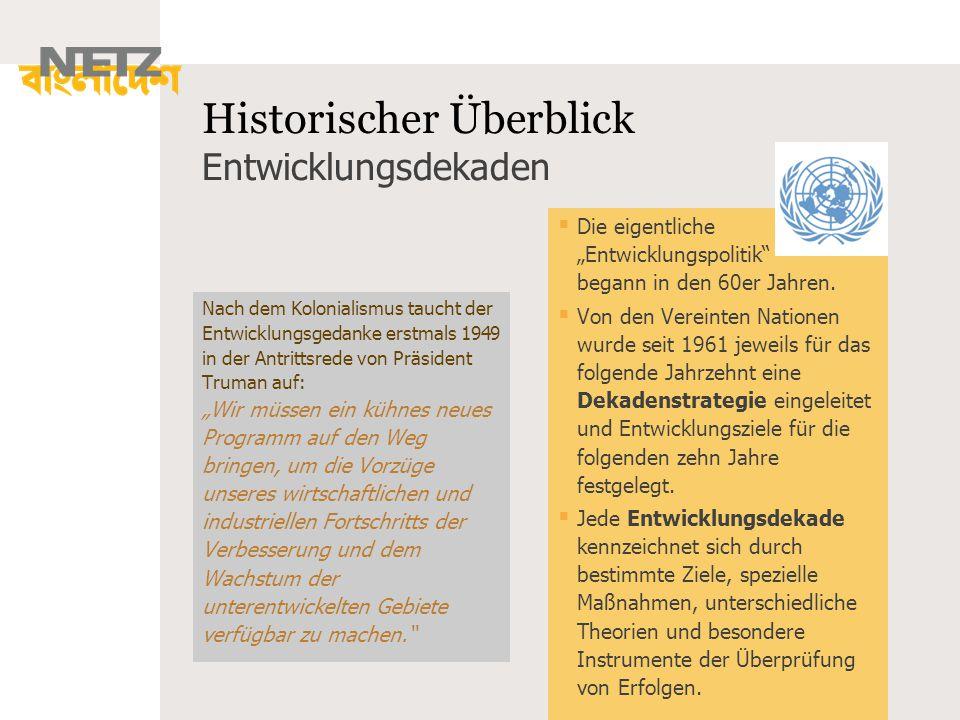 Historischer Überblick Entwicklungsdekaden