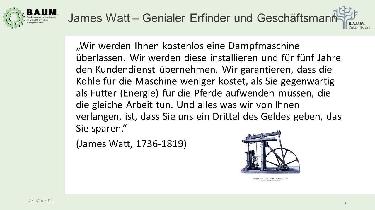 James Watt – Genialer Erfinder und Geschäftsmann