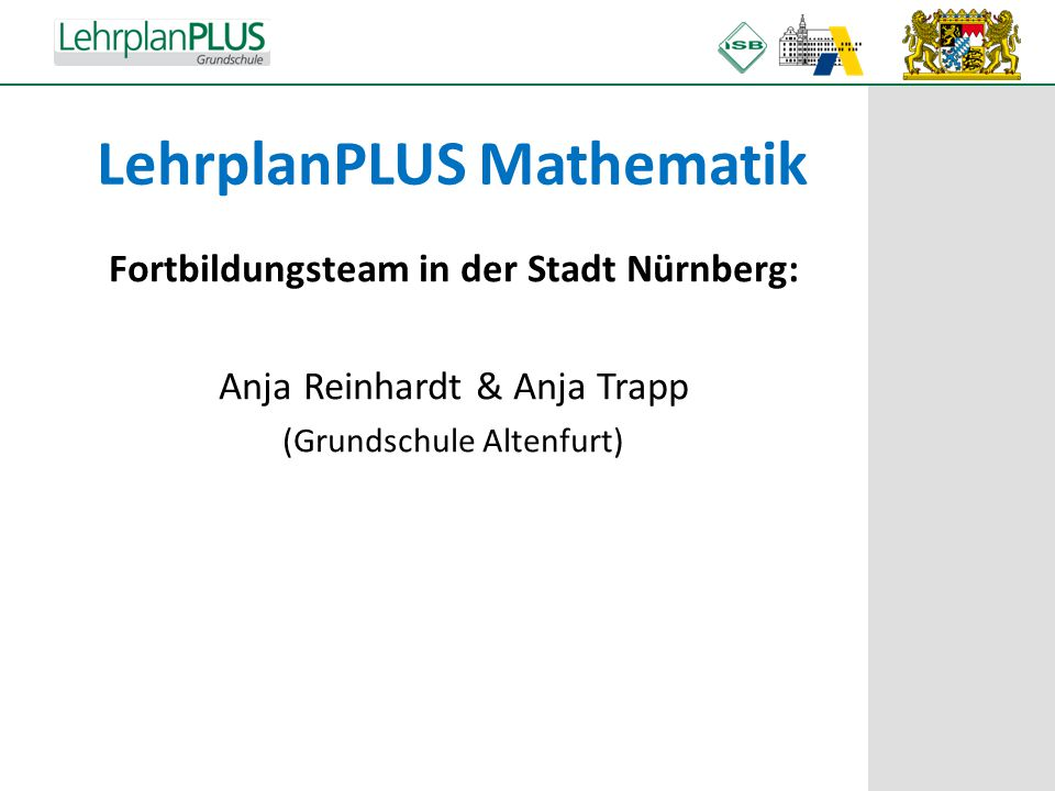 LehrplanPLUS Mathematik