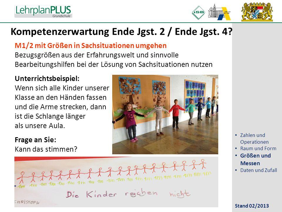 Kompetenzerwartung Ende Jgst. 2 / Ende Jgst. 4