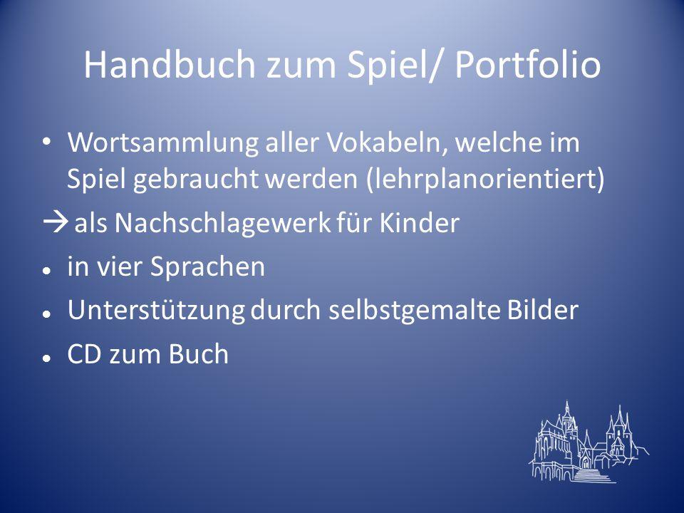 Handbuch zum Spiel/ Portfolio