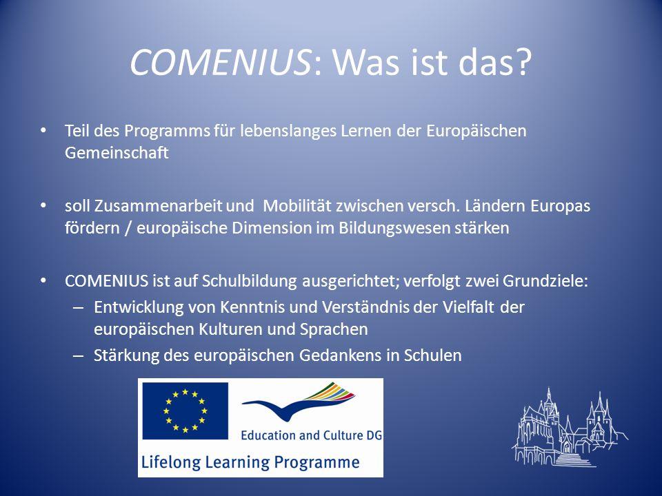 COMENIUS: Was ist das Teil des Programms für lebenslanges Lernen der Europäischen Gemeinschaft.