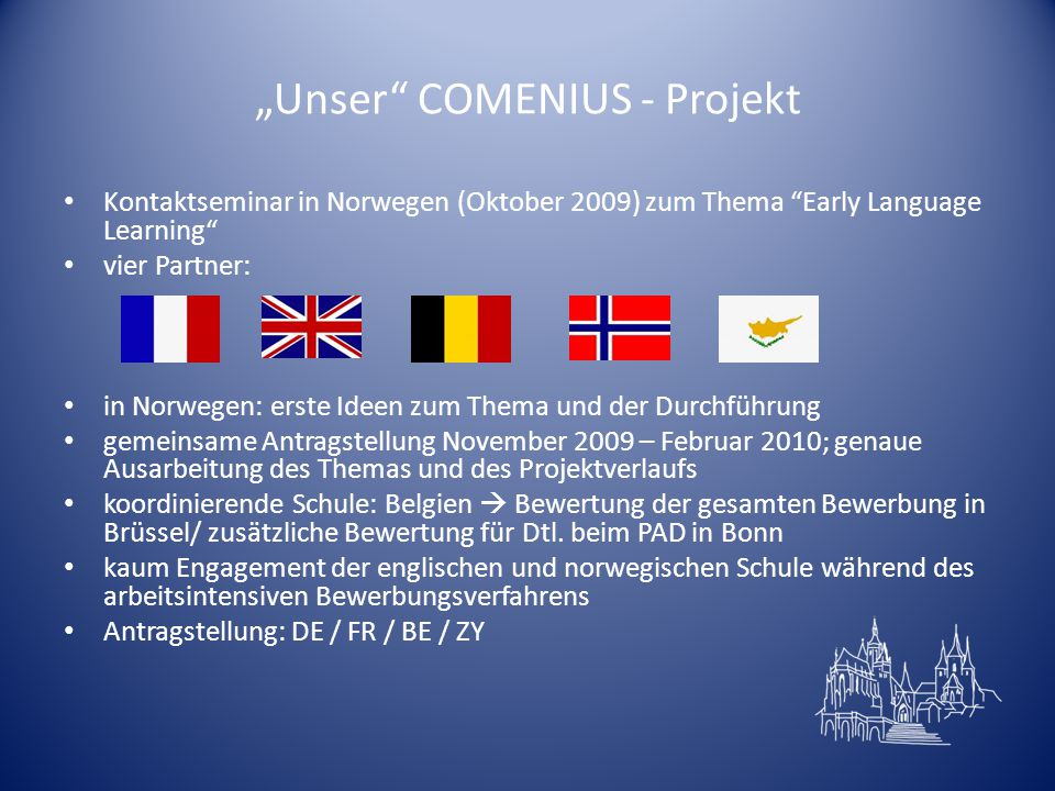 """Unser COMENIUS - Projekt"