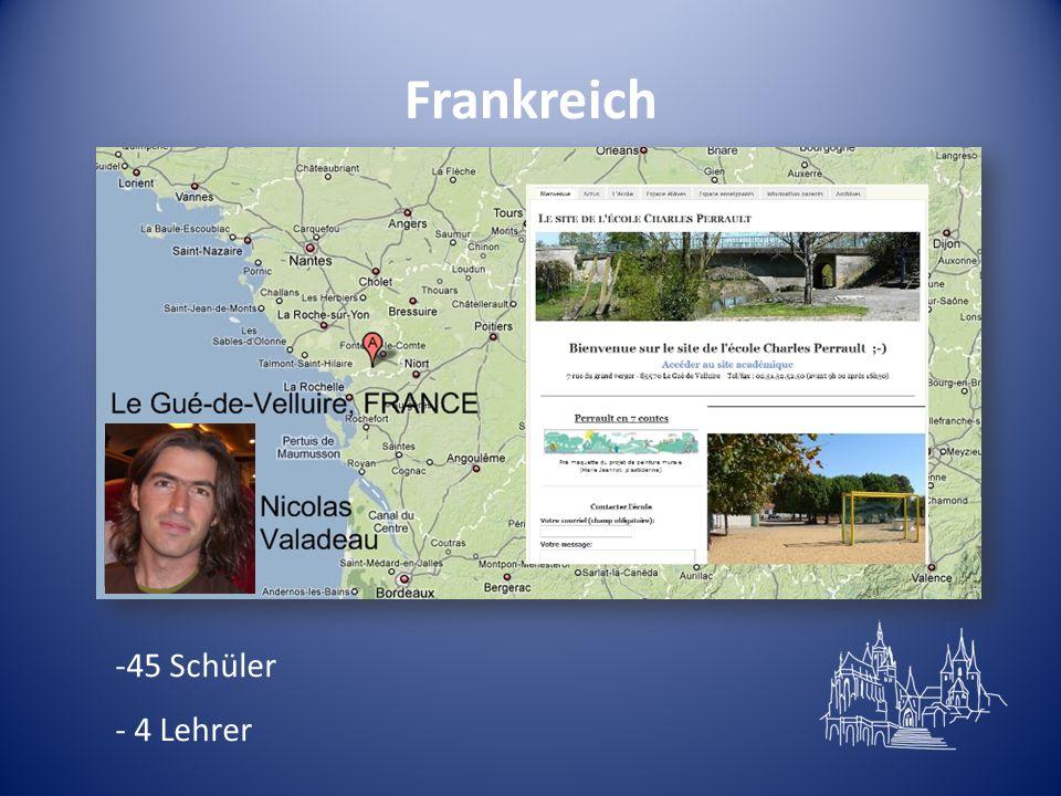 Frankreich 45 Schüler - 4 Lehrer