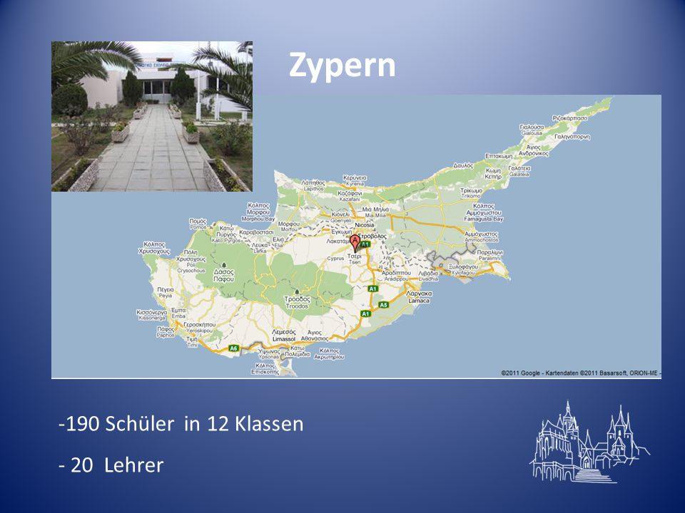 Zypern 190 Schüler in 12 Klassen 20 Lehrer