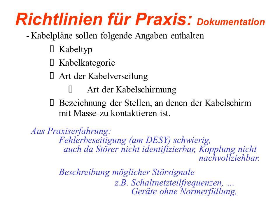 Richtlinien für Praxis: Dokumentation