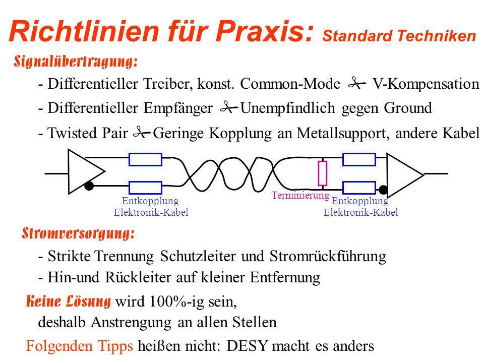 Richtlinien für Praxis: Standard Techniken