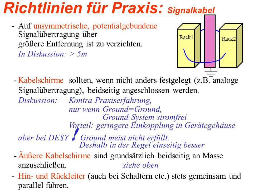 Richtlinien für Praxis: Signalkabel