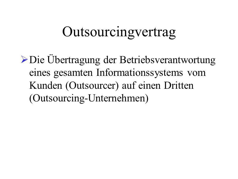 Outsourcingvertrag