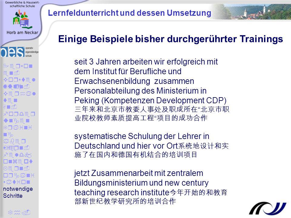 Lernfeldunterricht und dessen Umsetzung