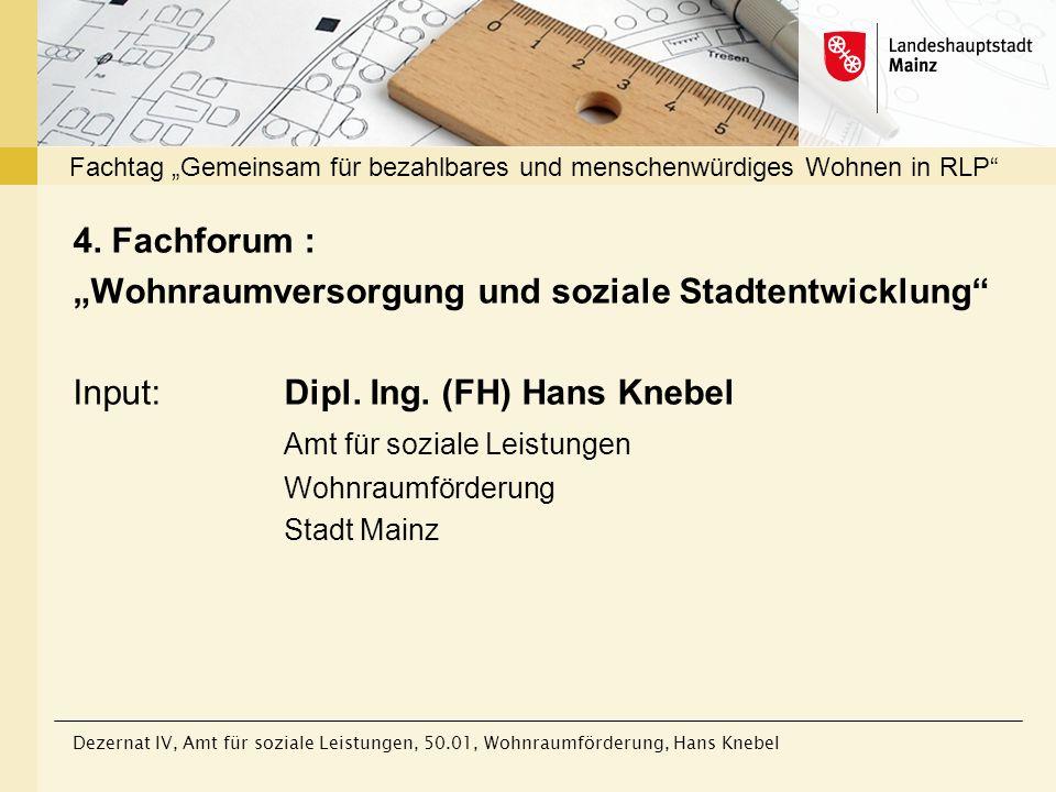 """Fachtag """"Gemeinsam für bezahlbares und menschenwürdiges Wohnen in RLP"""
