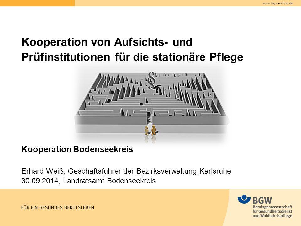Kooperation von Aufsichts- und Prüfinstitutionen für die stationäre Pflege
