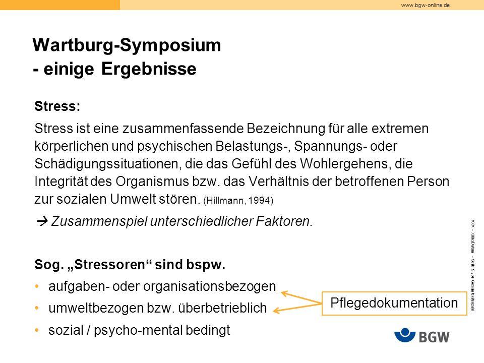Wartburg-Symposium - einige Ergebnisse