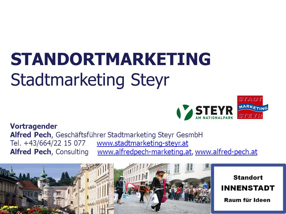 STANDORTMARKETING Stadtmarketing Steyr